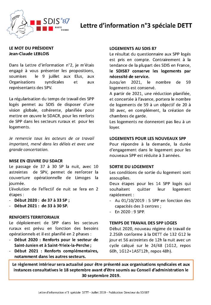 SDIS87_lettre d'information n3